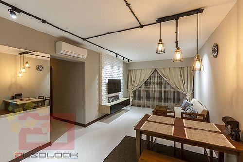 HDB 4 Room BTO Industrial @ Blk 175A Yung Kuang Road   Interior Design  Singapore