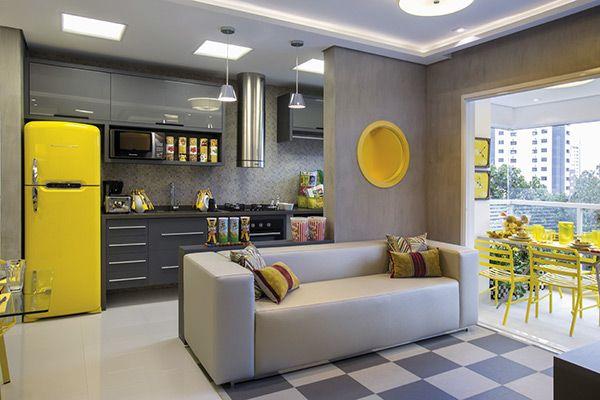 Traumküchen, Dekoideen Für Die Wohnung, Dekor Zimmer, Ideen Für Die Küche,  Grau Gelb, Orange, Ny Style, Moderne Dekoration, Badezimmer
