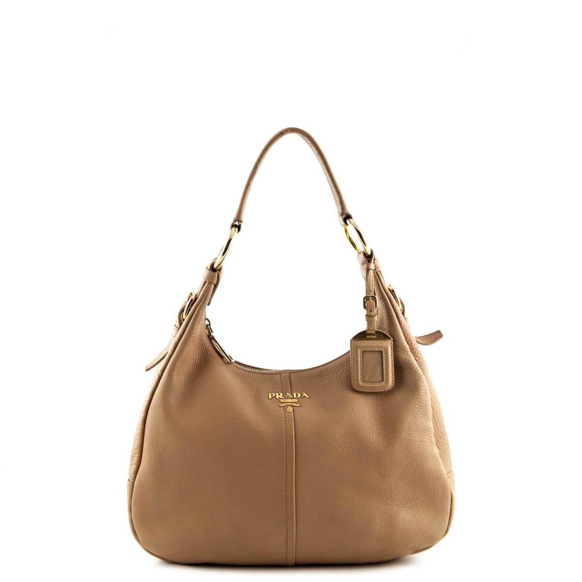 85791088d189 ... wholesale prada beige vitello daino hobo shoulder bag 750 cad 1c185  f3b65 inexpensive prada tessuto black nylon ...