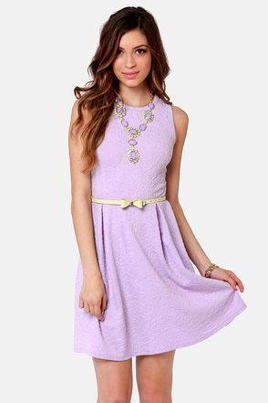 Jacquard-ed at the Door Lavender Dress | Nice, Casual and Lavender