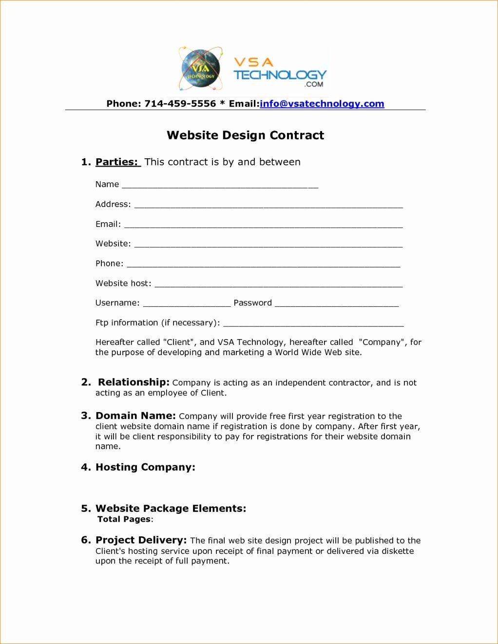 Website Development Agreement Template Inspirational Web Design