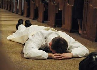 Lying Prostrate At An Ordination Types Of Prayer Holy Father Prayers