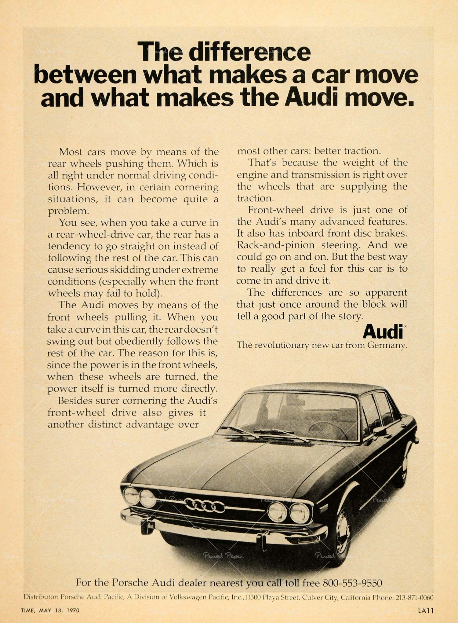 Vintage Audi ad from 1970. | Posters | Audi, Audi 100 ...