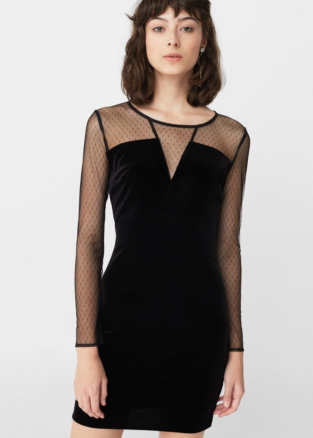 Vestido terciopelo - Mujer  286c603c68be