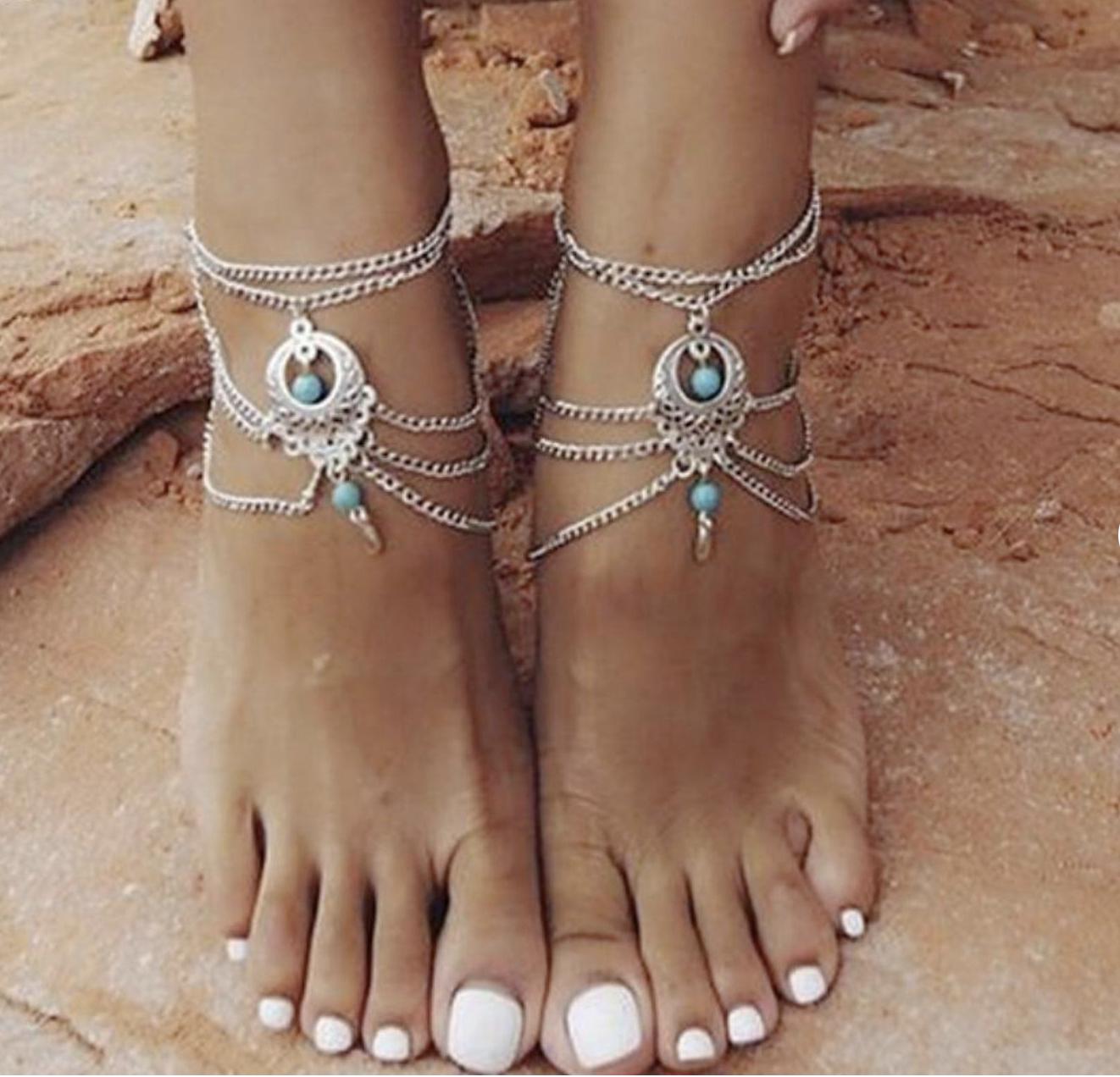 Gypsy Anklet Shiny Brite Bells Mindfulness Gift