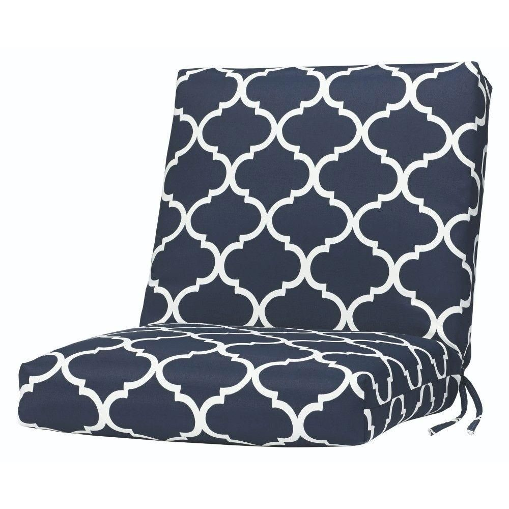 Home Decorators Collection Landview Navy Outdoor Dining Chair