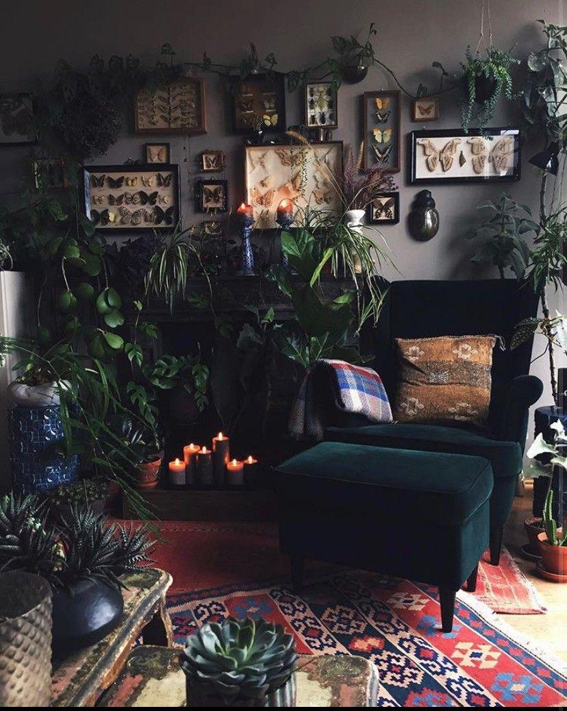 Pin By Aklaea Davis On Bohemian Style Dark Living Rooms Aesthetic Room Decor Home Decor Inspiration
