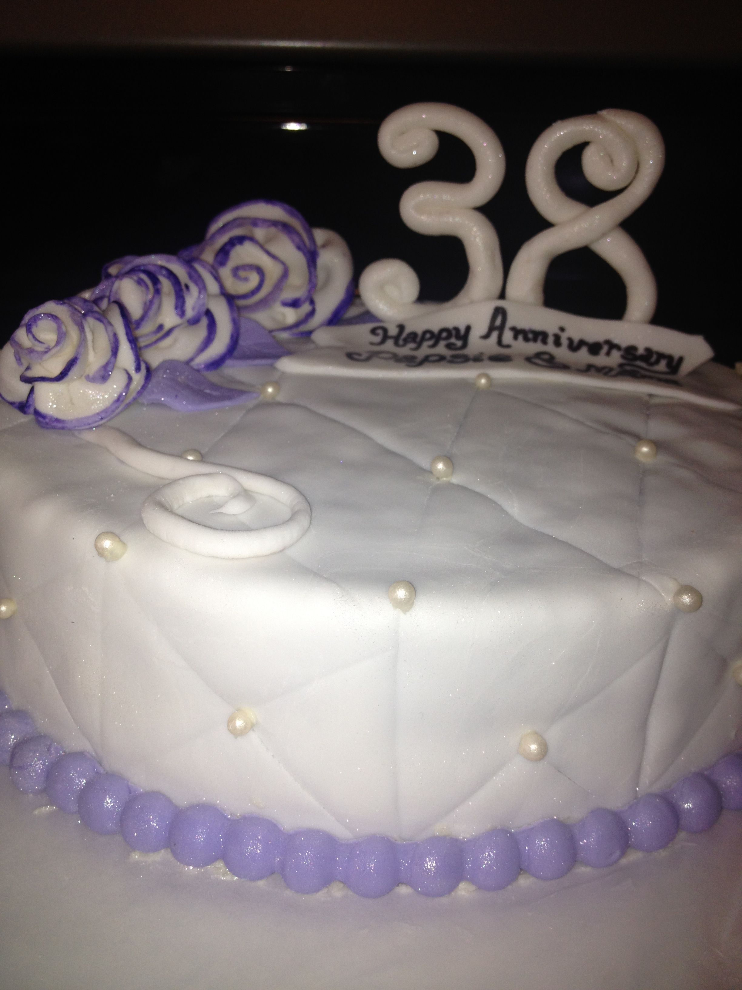 38th Wedding Anniversary in lavender 38th wedding