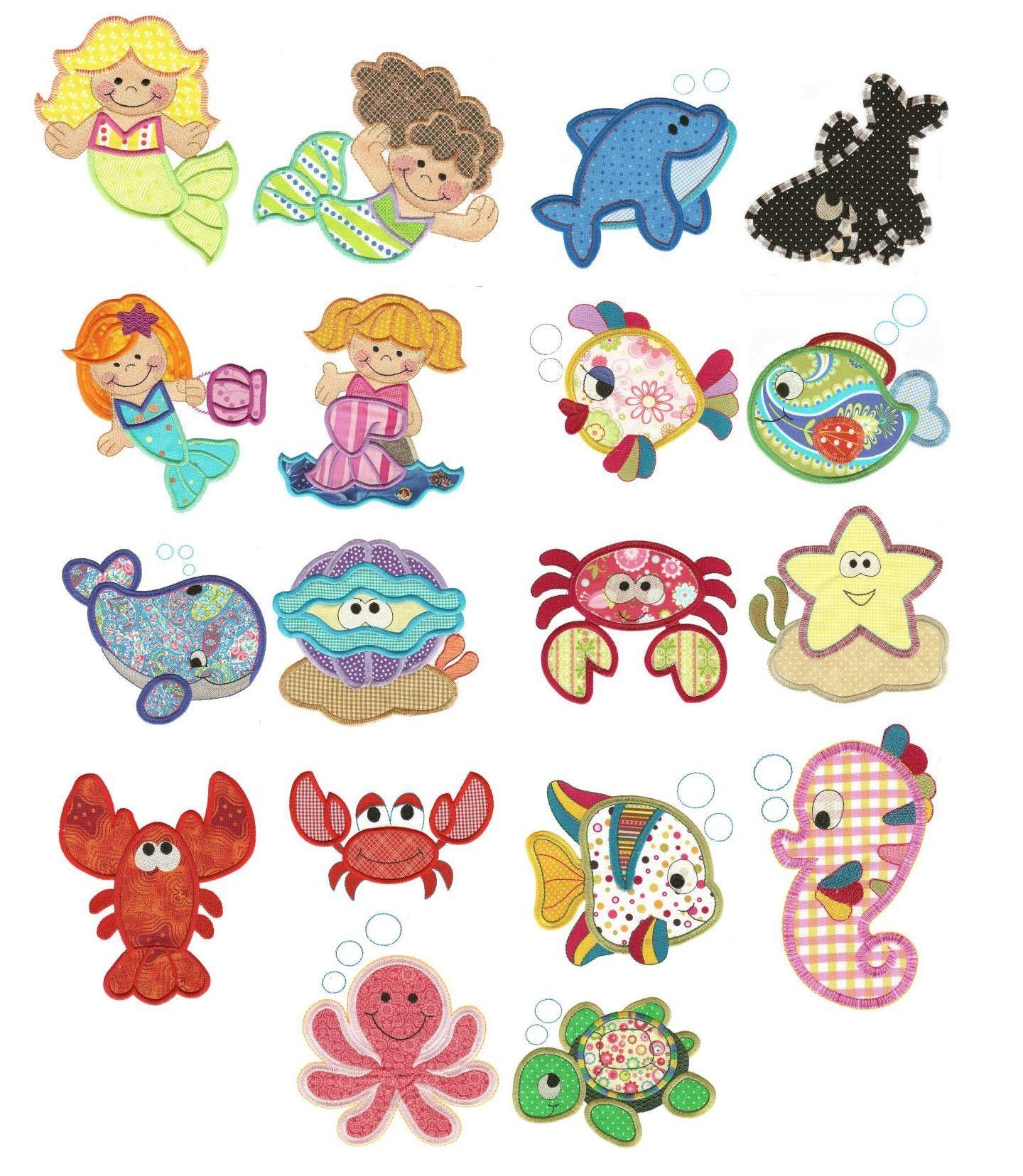 Under the sea applique machine embroidery designs designs by under the sea applique machine embroidery designs designs by juju bankloansurffo Gallery