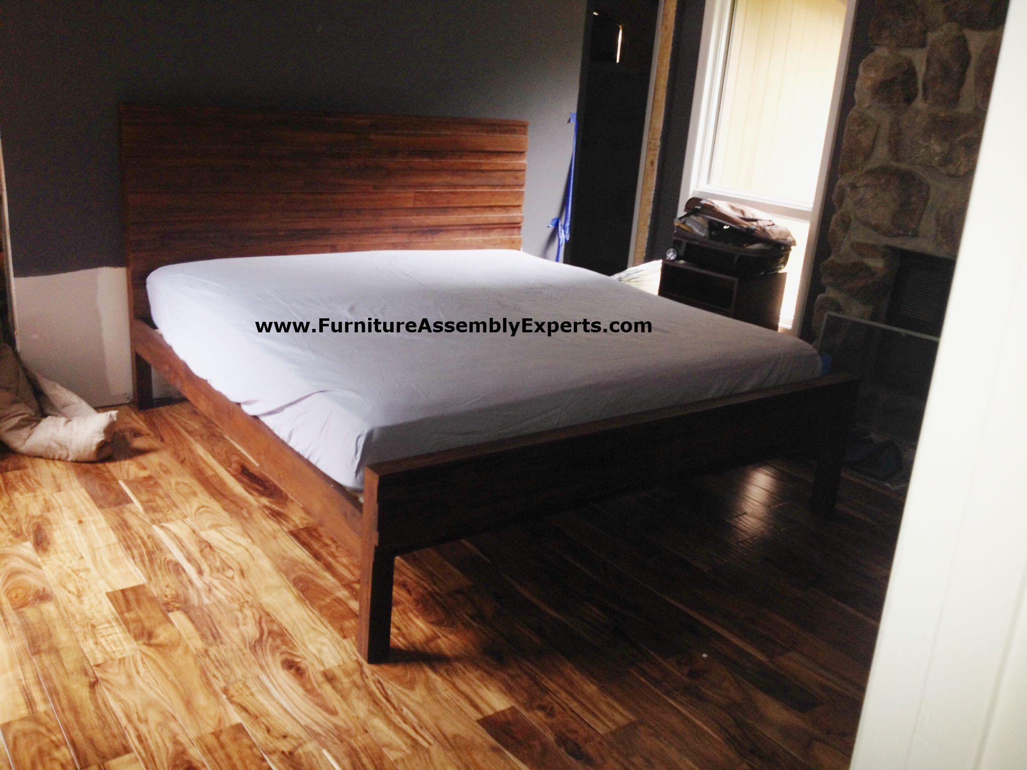 West Elm Stria Platform Bed Assembled In Bethesda MD By Furniture Assembly  Experts LLC
