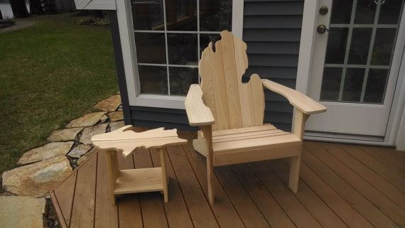 michigan adirondack chair traditional leather wingback with upper peninsula side perfect for front porch and unique i want pinterest