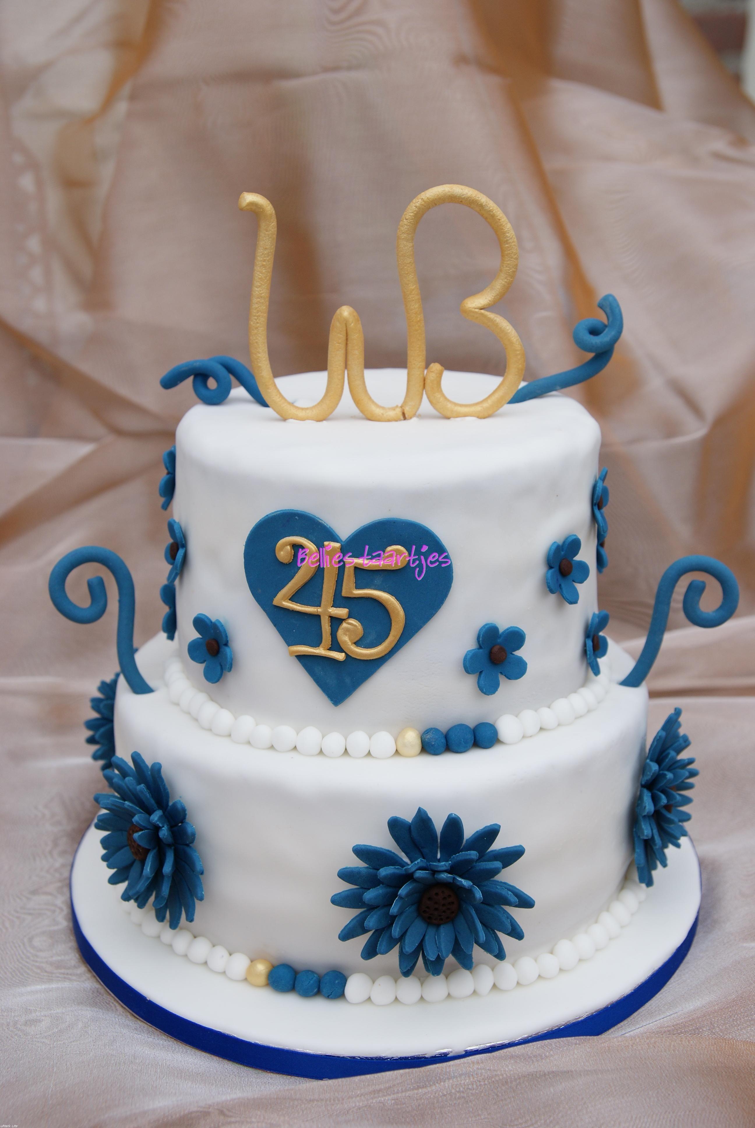 45th anniversary cake 45th wedding anniversary