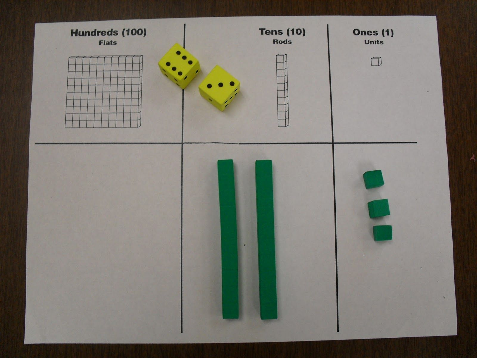 Place Value Race To 100 Roll The Dice Add Base Ten