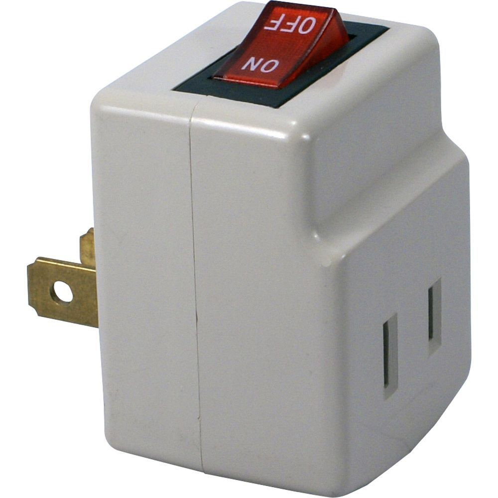 QVS Single-Port Power Adaptor with On/Off Switch #PA-1P