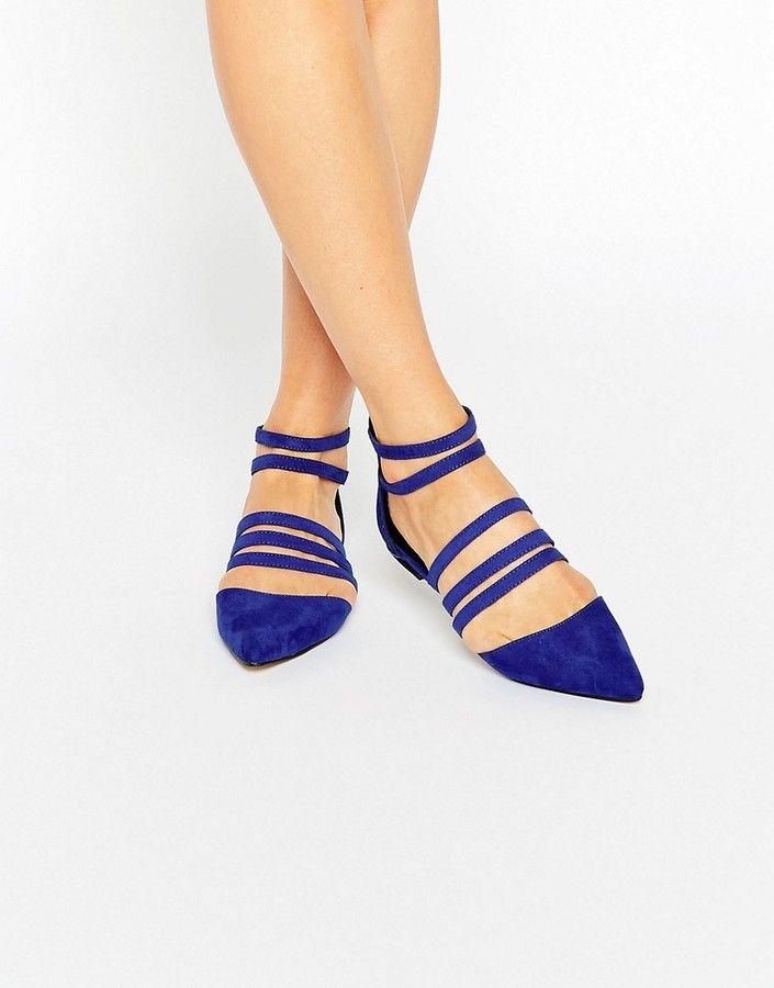17e385de942c7 Blue velvet Caged Ballet Flats | Ballet flats | Ballet flats, Caged ...