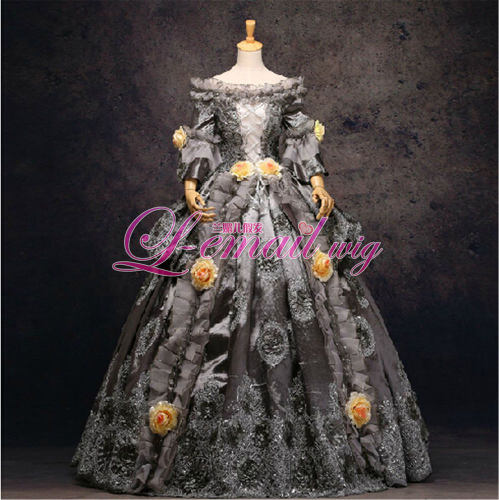 18th Marie Antoinette Day Court Gown Rococo dress cotton yellow rococo dress