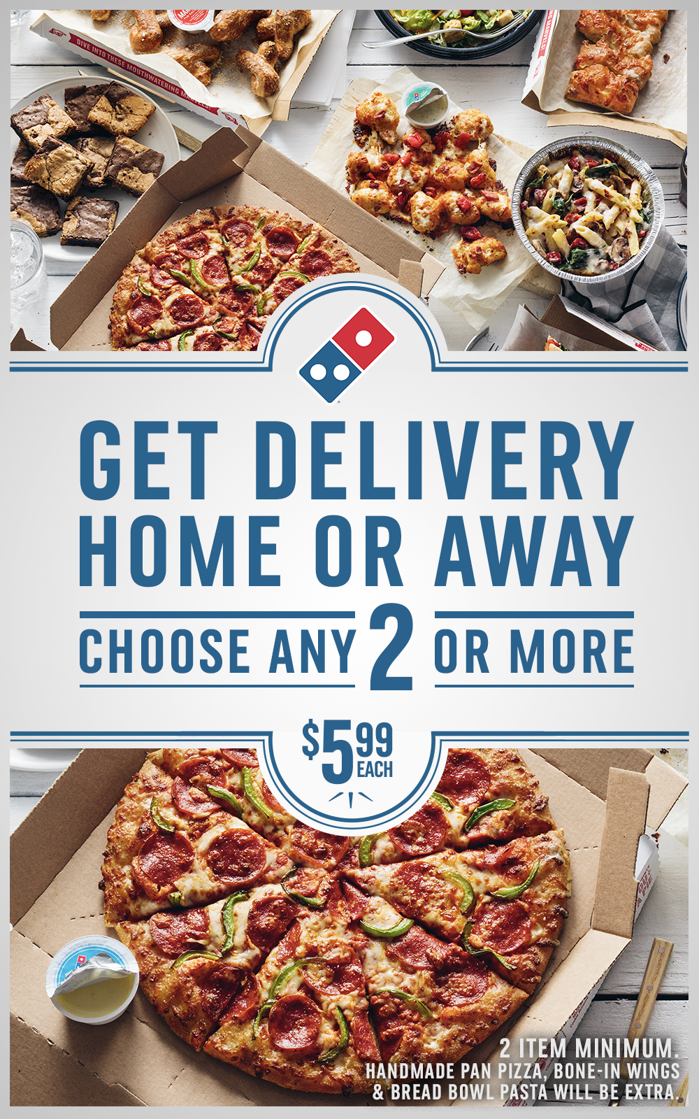 Enjoy the Domino's Mix & Match deal for food delivery at