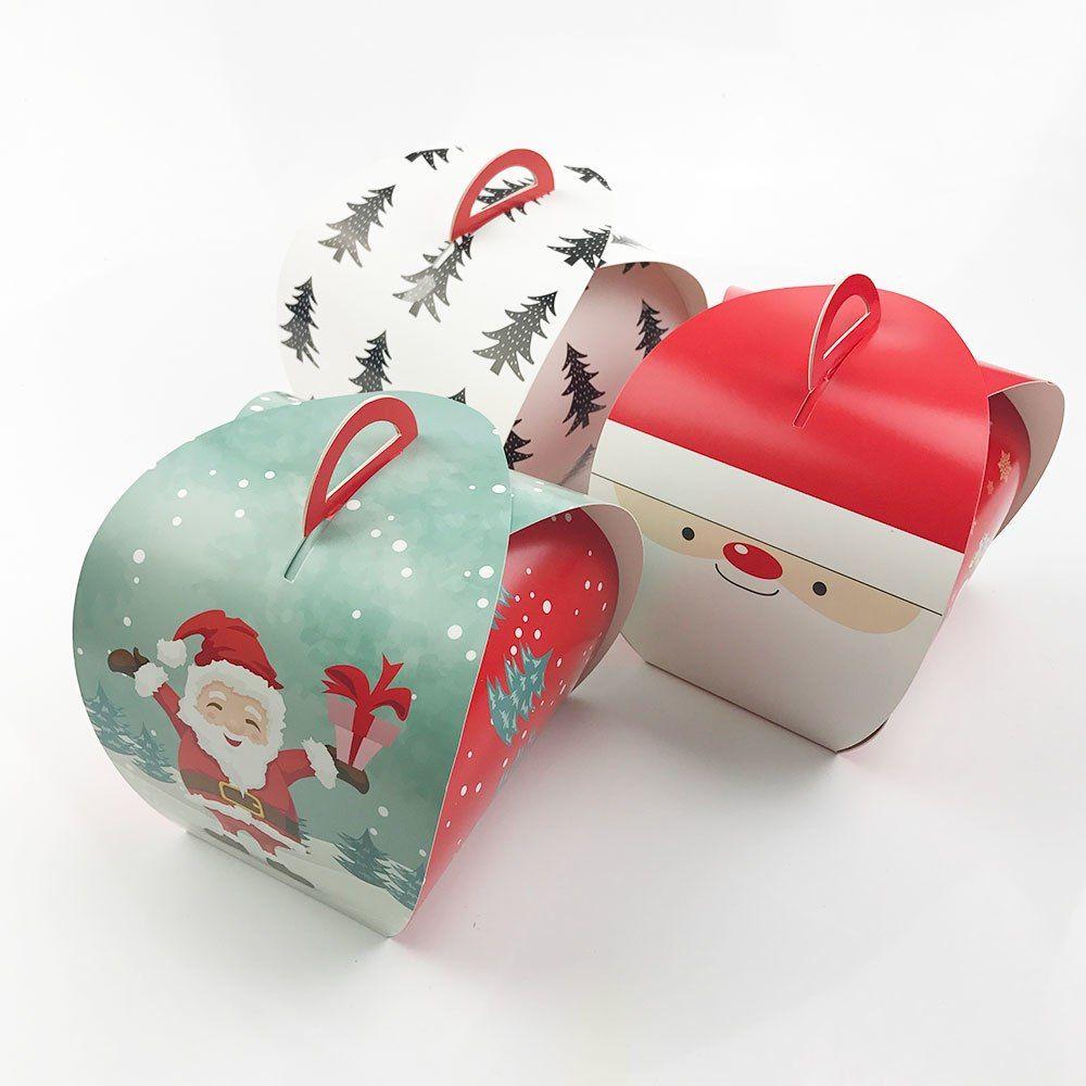 Günstige 10 stücke Cartoon Santa Claus Handtasche Box Weihnachten ...