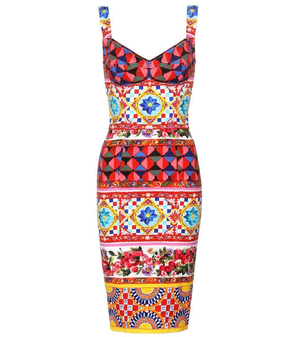 DOLCE & GABBANA. Multi Coloured DressesPrinted SilkDesigner ...
