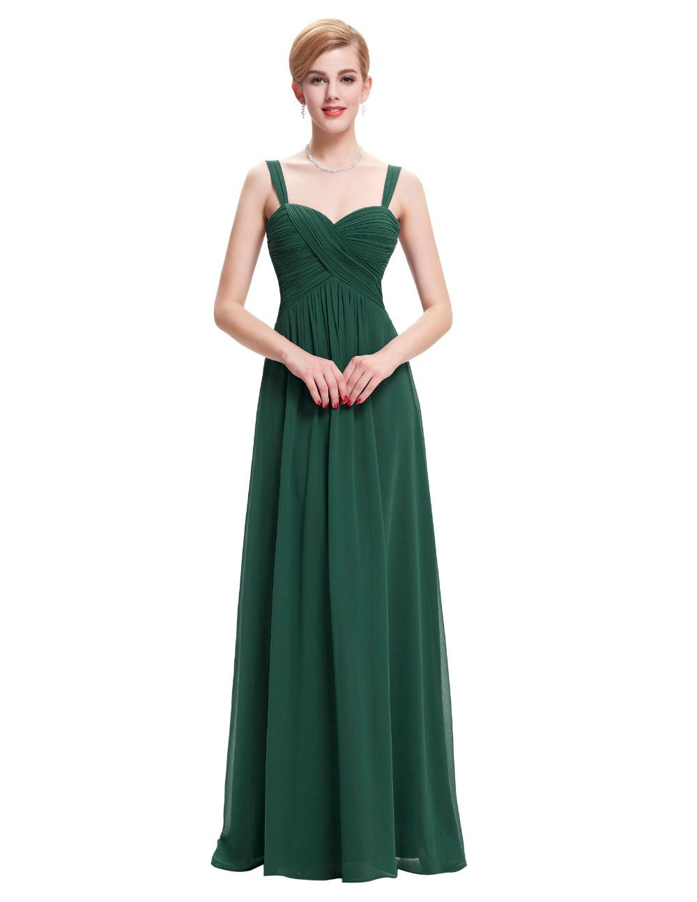 Spaghetti Straps Chiffon Floor-Length A-Line Bridesmaid Dress ...