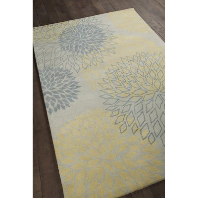 Chandra Rugs Stella Patterned Contemporary Wool Gray Yellow Area