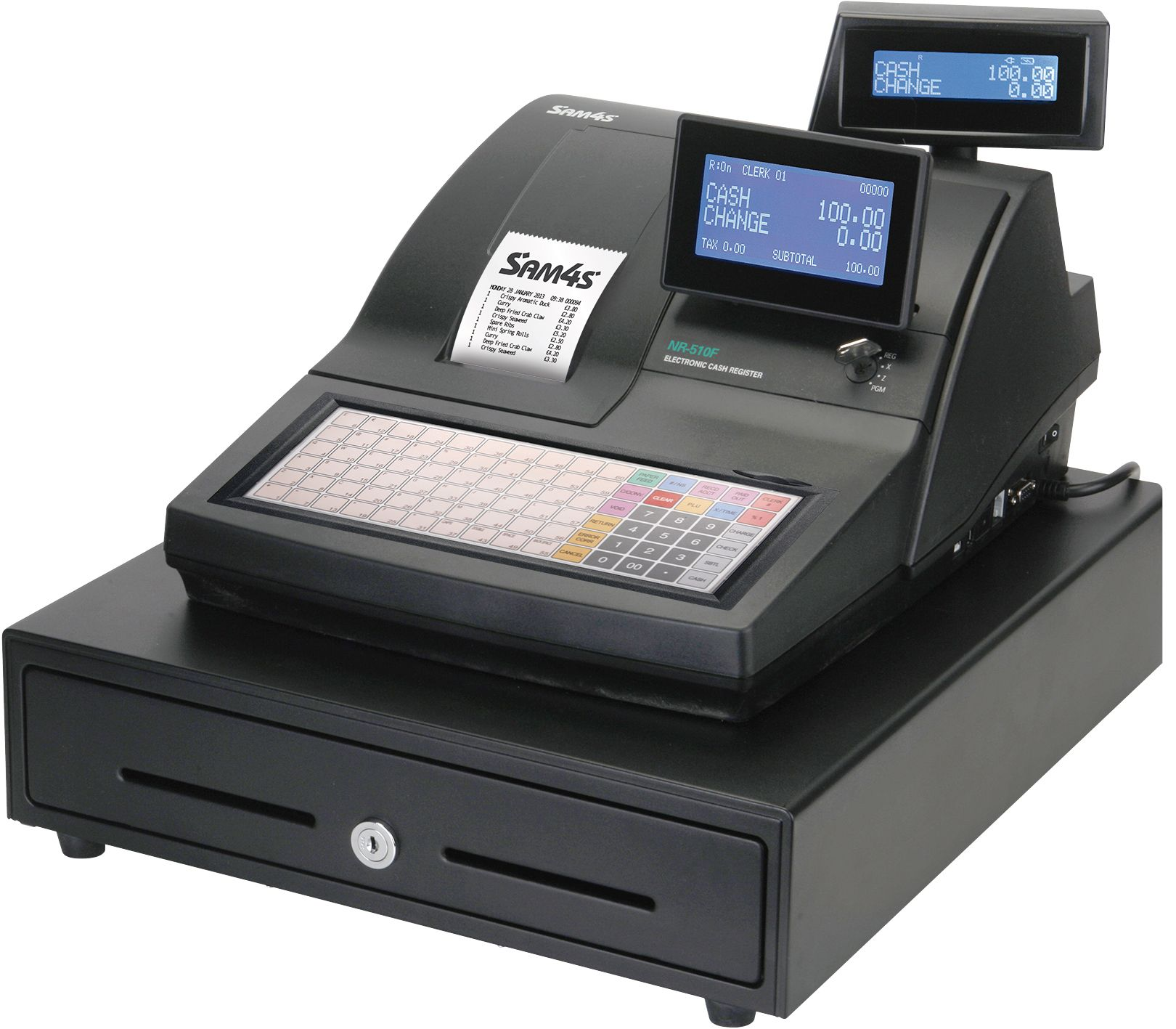 Sam4s NR-510F Cash Register - Scanning Bundle 1 ...