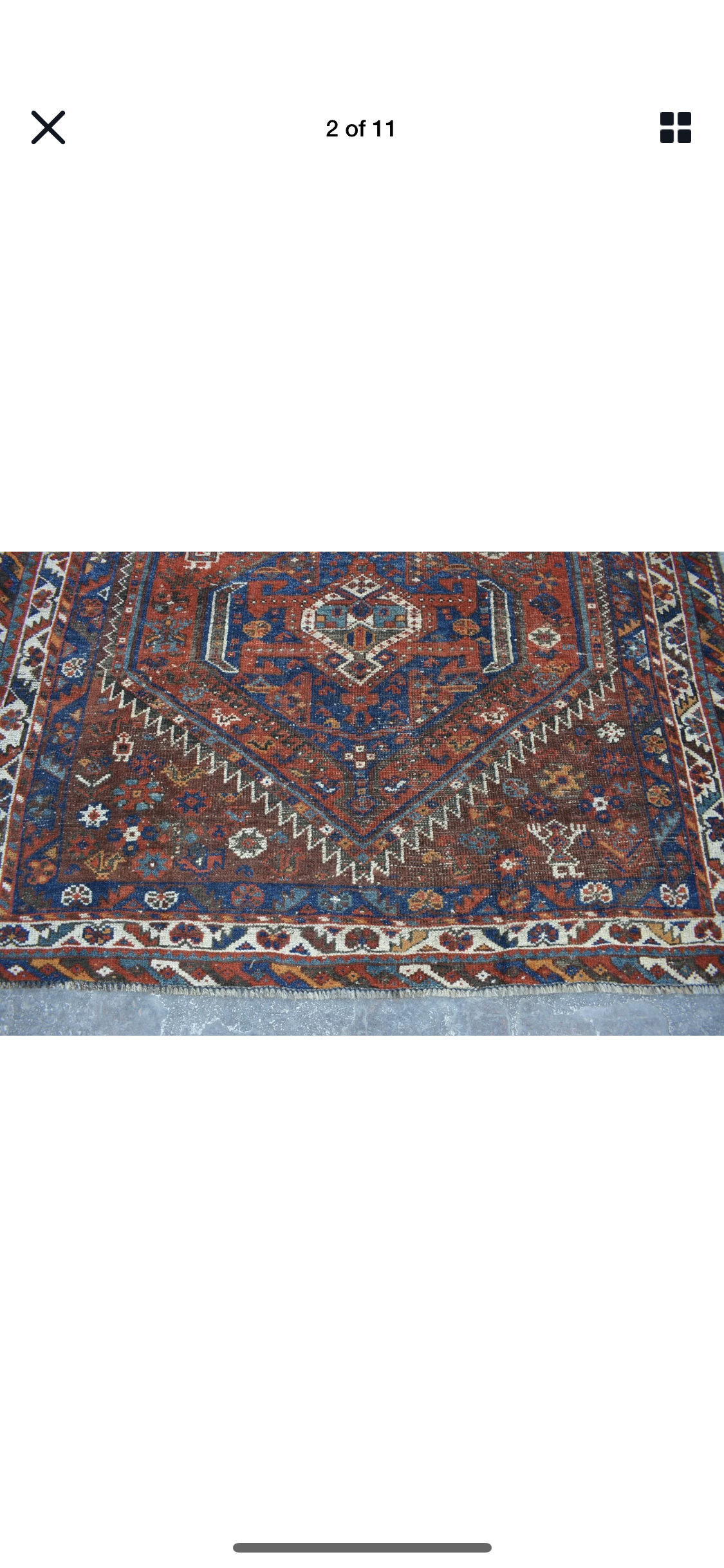 Plan To Purchase This Vintage Rug On Ebay Love The Colors And Pulls The Room Together Size Is 5x6 So Planning To Put It In 2020 Large Jute Rug Vintage