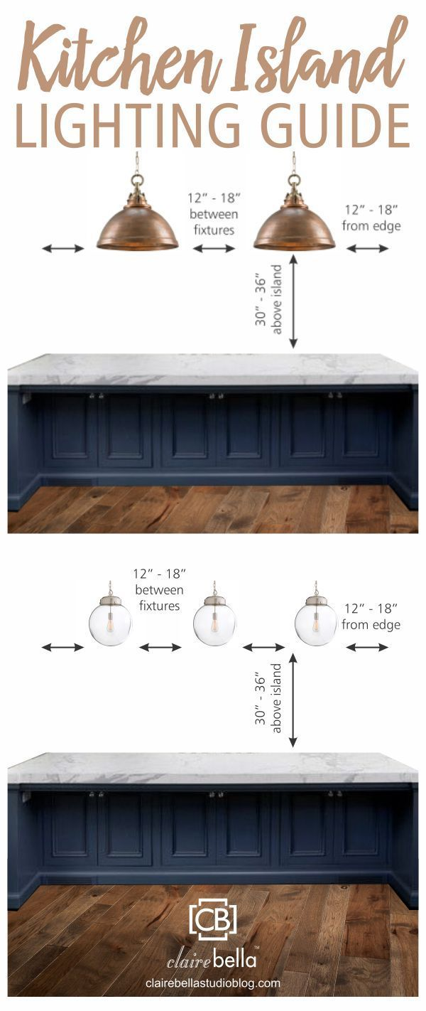 Kitchen Island Lighting Guide How Many Lights High Far Apart