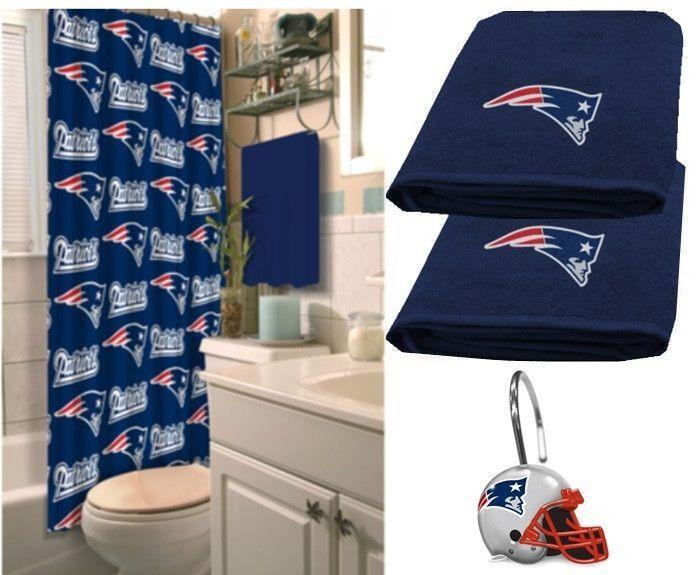 New England Patriots Nfl Deluxe Bath Set At Sportsfansplus Com