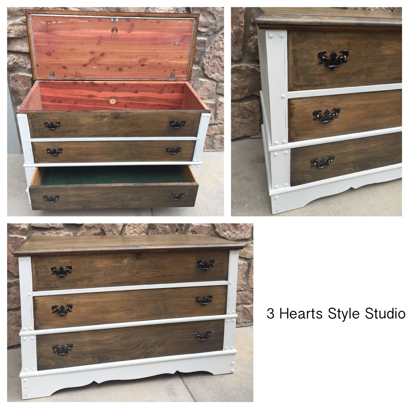 Trunk|painted Furniture|lane|old White|chest|furniture|vintage Furniture