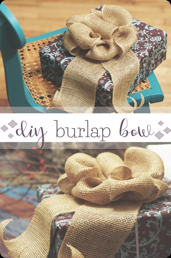 DIY Burlap Bow | Epic Art & Projects | Pinterest | Burlap ...
