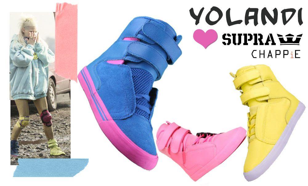 c16ab5fc9353 Yo Landi Visser sneakers Chappie movie Supra Yolandi Visser