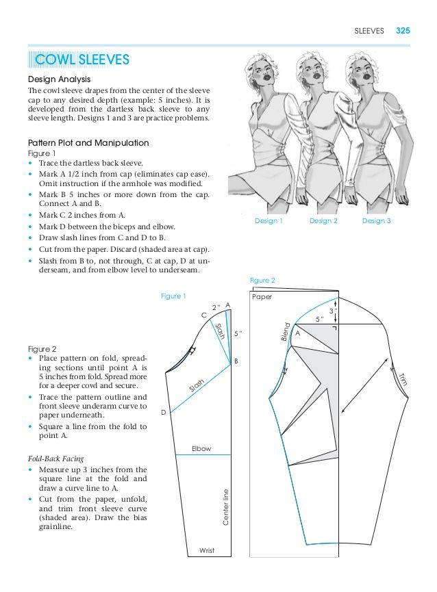 Cowl Sleeves Pattern Making For Fashion Design Learn To Make