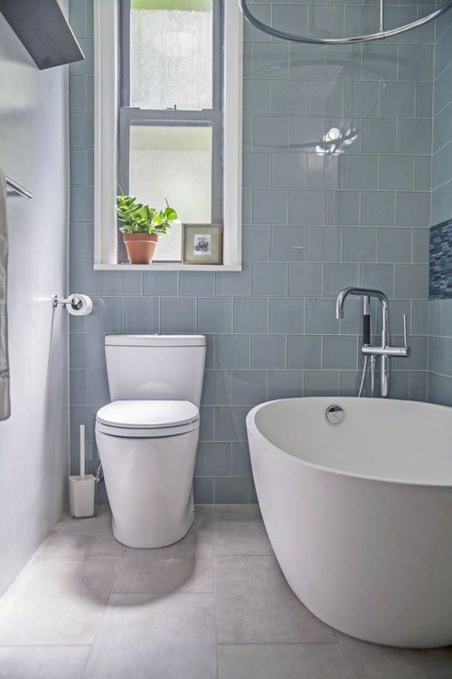 35 Blue Grey Bathroom Tiles Ideas And Pictures Grey Bathroom
