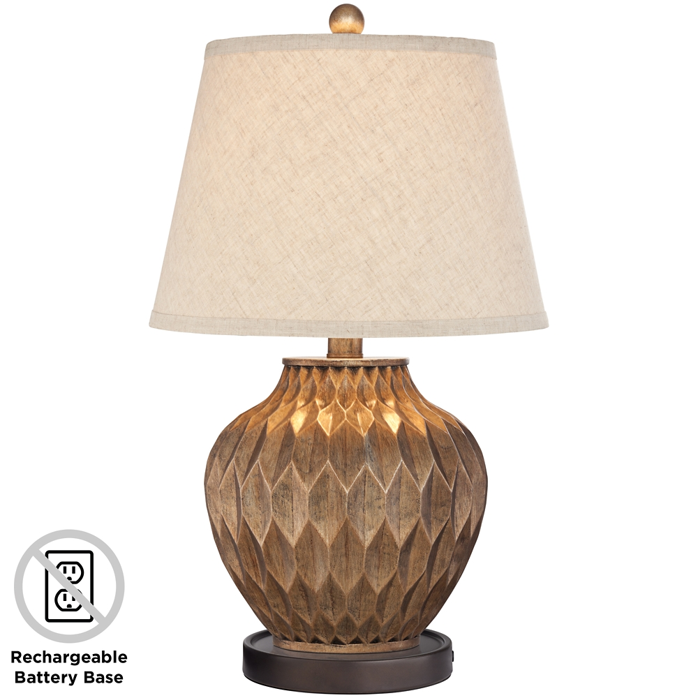 Buckhead Bronze Accent Urn Table Lamp With Battery Pack