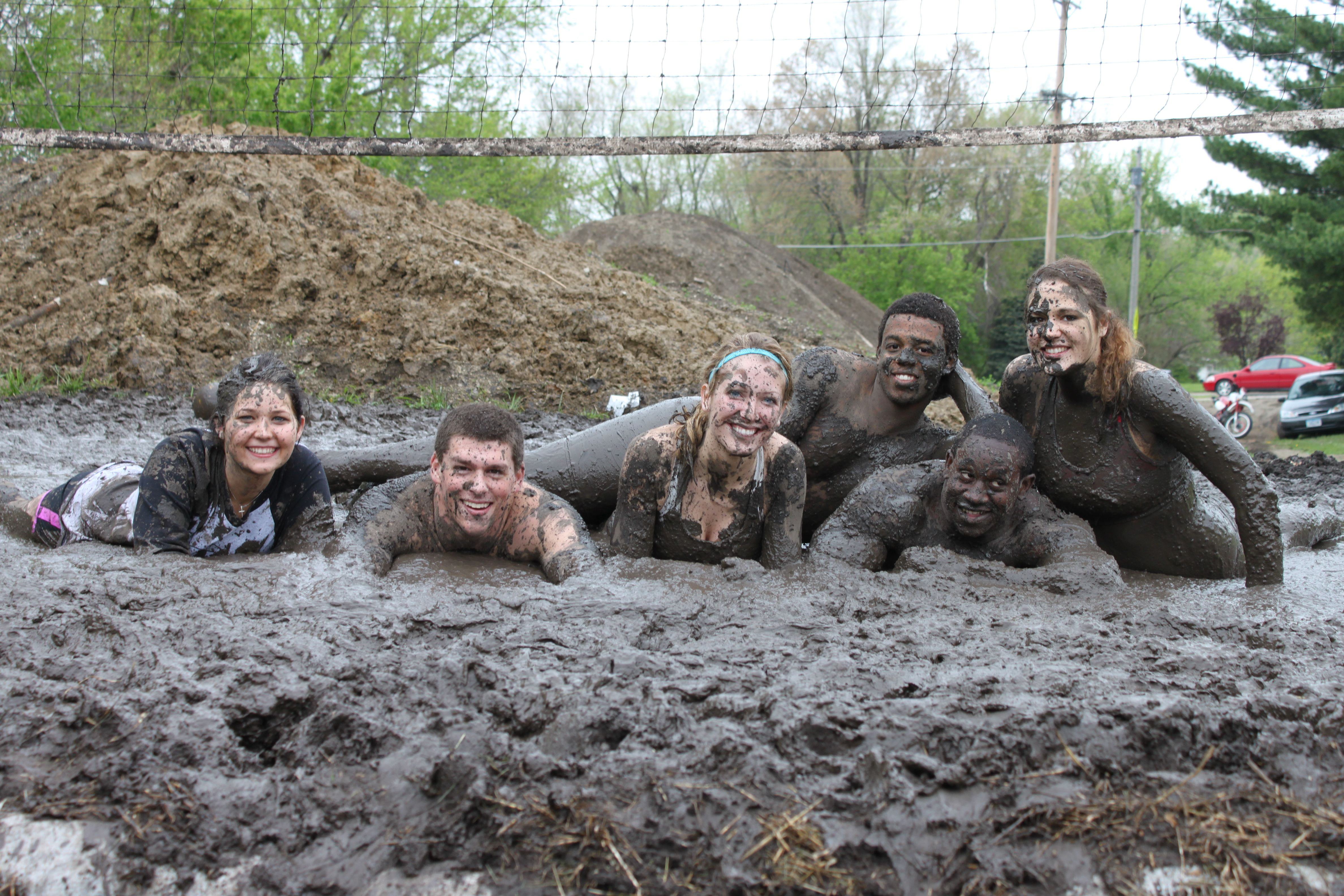 Intramural Mud Volleyball At Simpson College