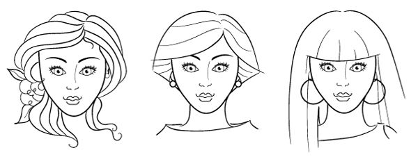 Makeup Face Charts And Photoshop Coloring Makeup Face Charts