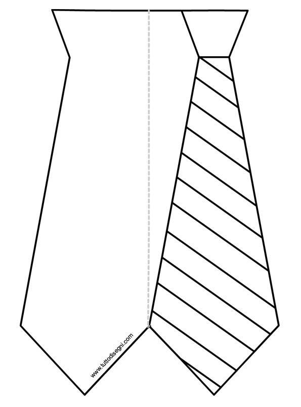 Festa Del Papà Biglietto A Cravatta Da Colorare Tuttodisegnicom