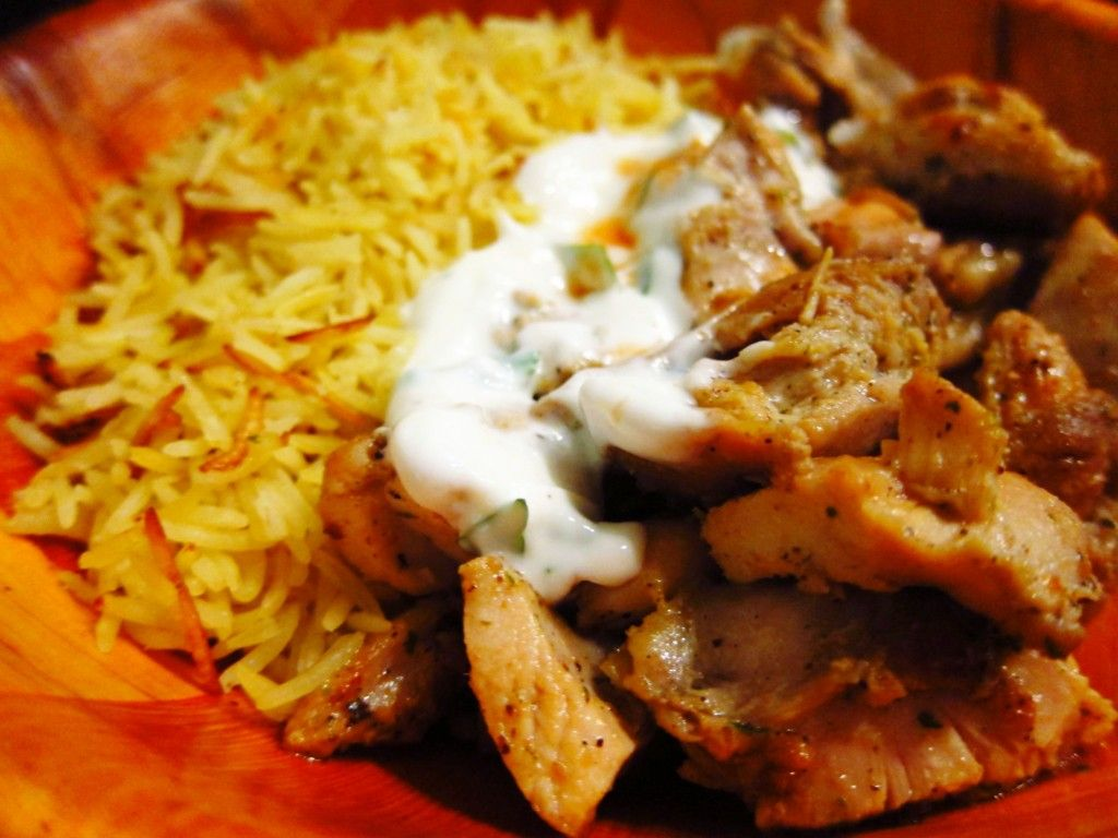 The Return Of The Halal Cart Chicken Rice Halal Recipes White Sauce Recipes Mediterranean Recipes