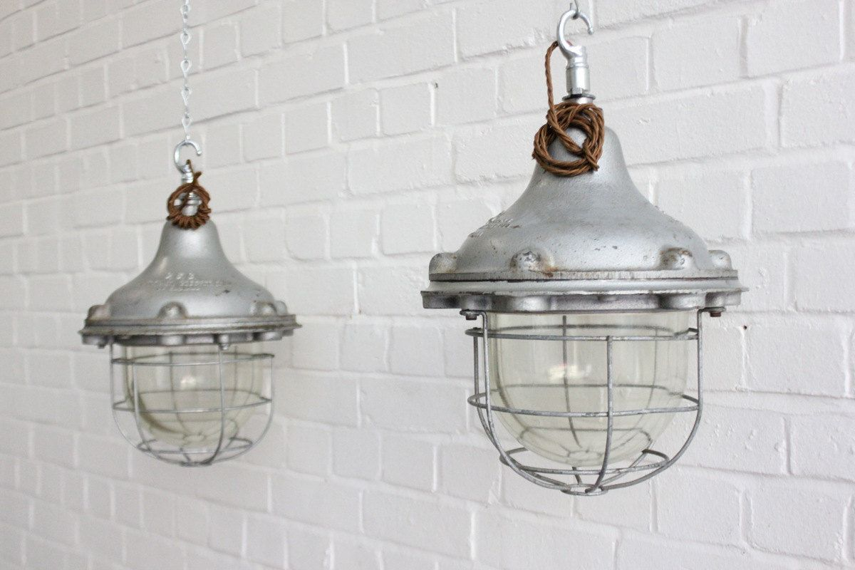 Vintage Industrial Explosion Proof Pendant Lights By GEC 8 Available & Vintage+Industrial+Explosion+Proof+Pendant+Lights+By+GEC+8+Available ...