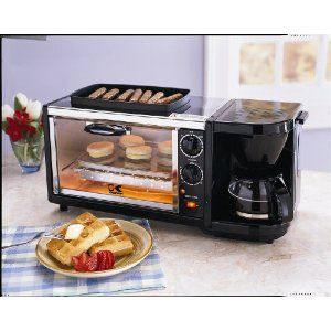 3 In 1 Breakfast Set Coffee Maker Oven Toaster Grill Plate