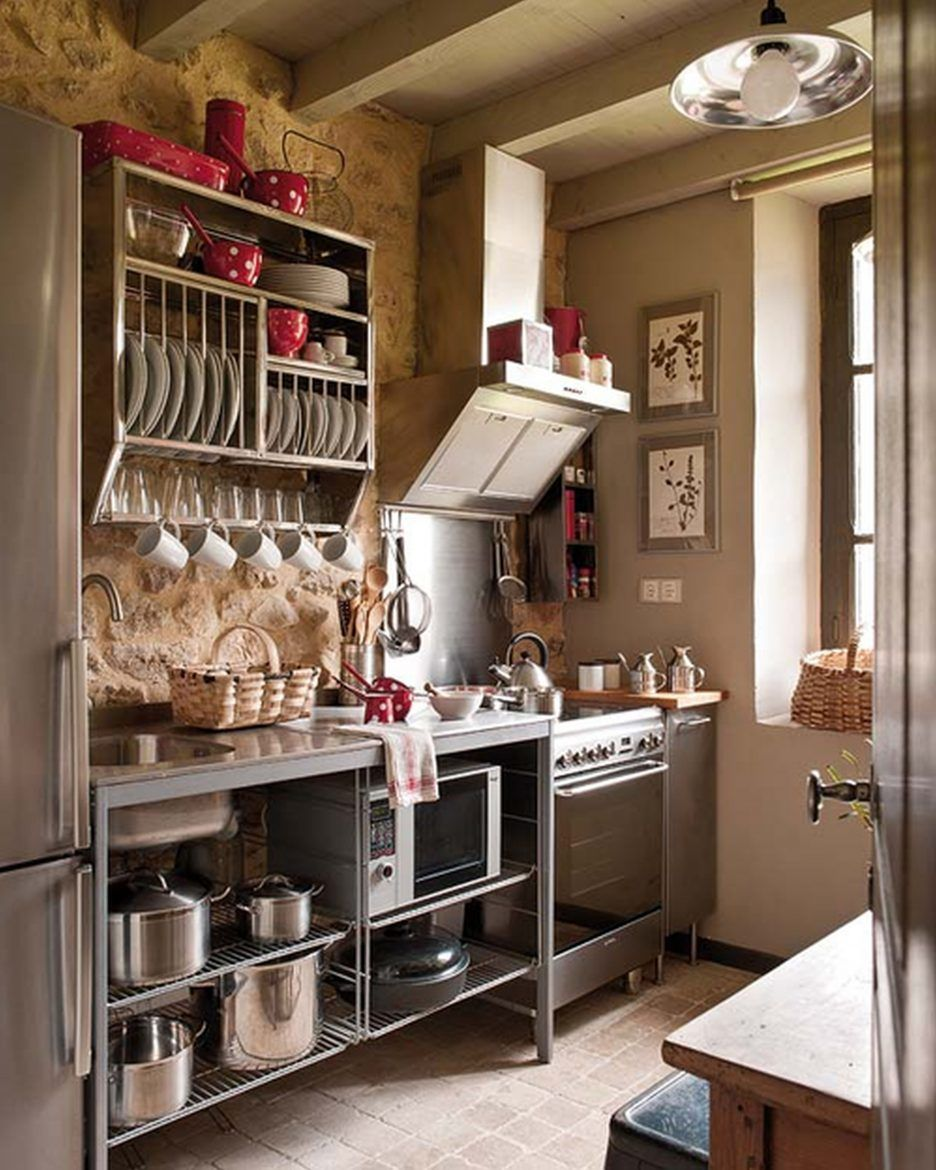 Winsome Rustic Industrial Kitchen Ideas On A Budget Rustic Kitchen Wall Decor Kitchen Designs Photo Gal Small Rustic Kitchens Kitchen Layout Tiny House Kitchen