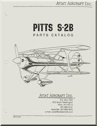 Aviat Pitts S-2B Aircraft Airplane Parts Catalog Manual