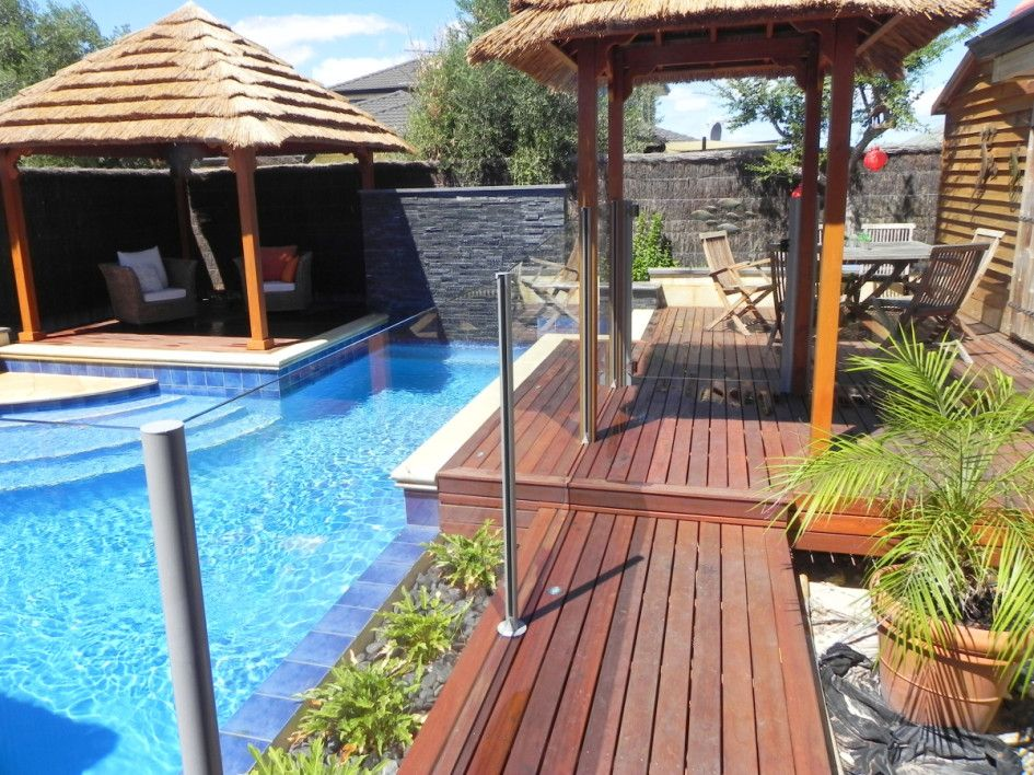 Glittering Above Ground Pool Decking Materials With Wooden Pool Deck Kits Als Swimming Pools Backyard Landscape Backyard Pool Landscaping Pool Landscape Design