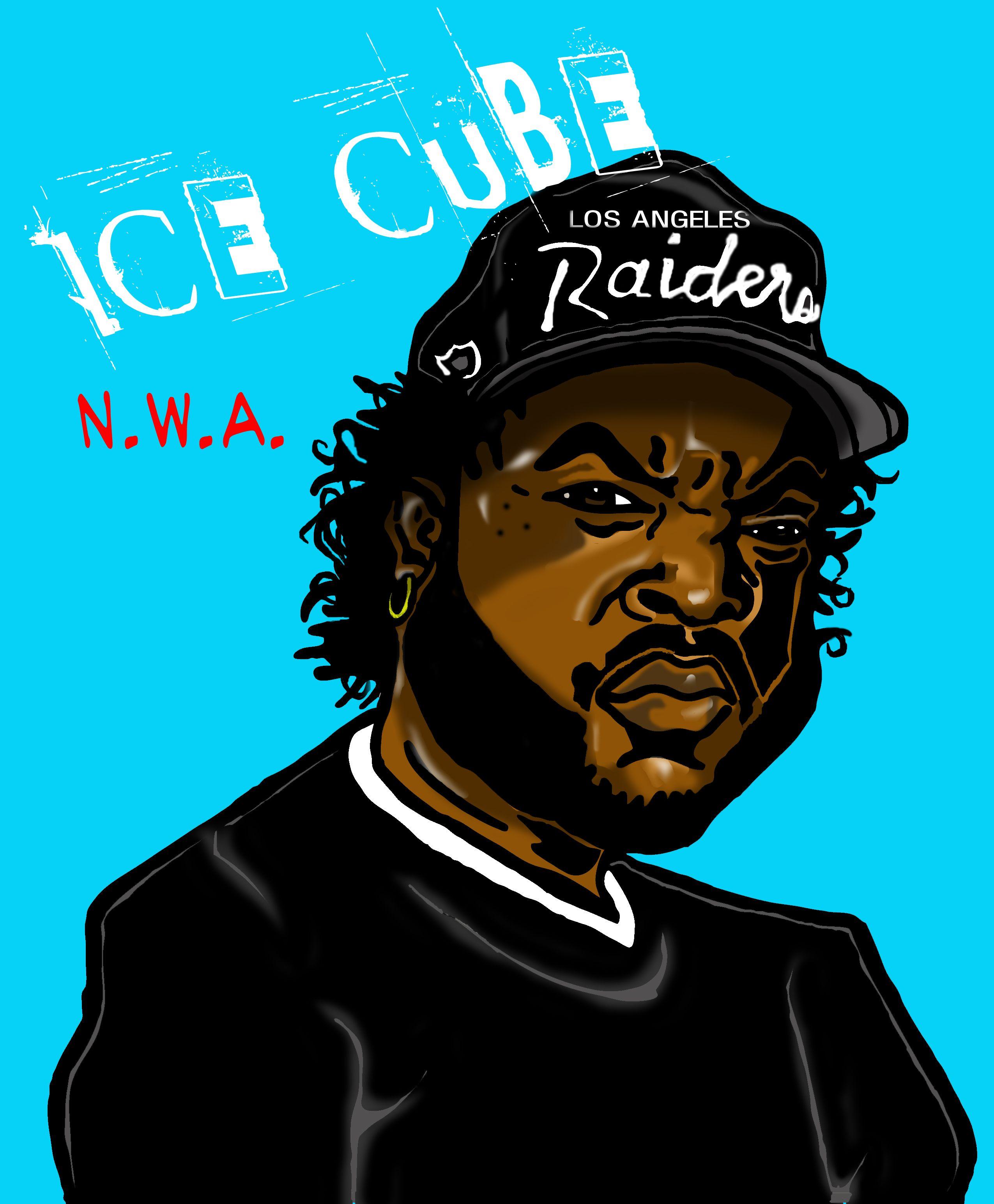 N.W.A. ILLUSTRATION! Gangsta rap, Celebrity caricatures