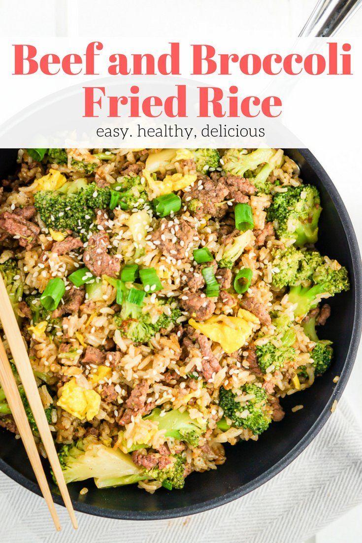 Beef and Broccoli Fried Rice #beefandbroccoli