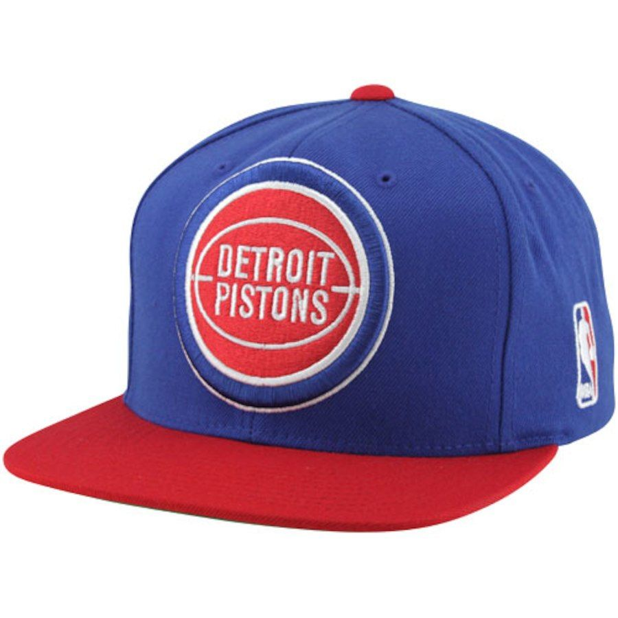 the latest 55a0d d38d4 Mitchell   Ness Detroit Pistons XL Logo Two Tone Snapback Hat - Royal  Blue Red, Your Price   27.99