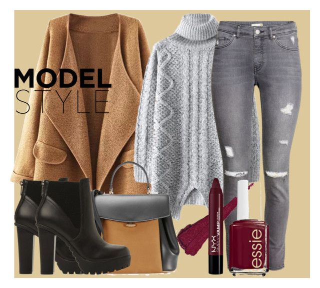 """Model style"" by isabella-guran on Polyvore featuring H&M, Nina Ricci, Steve Madden and Essie"