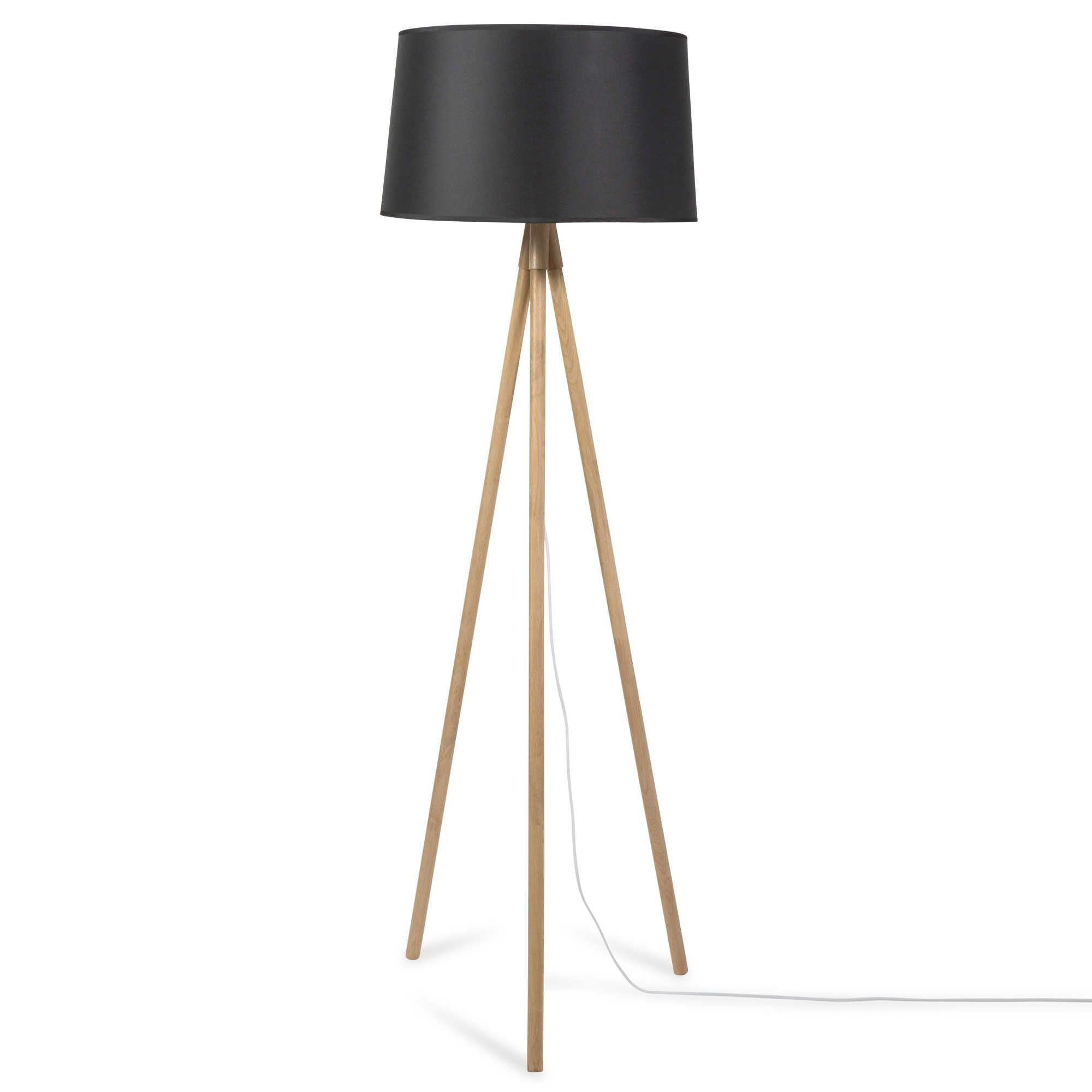 carte cadeau maisons du monde lampadaire tr pied en bois noir h inspi salon s jour. Black Bedroom Furniture Sets. Home Design Ideas