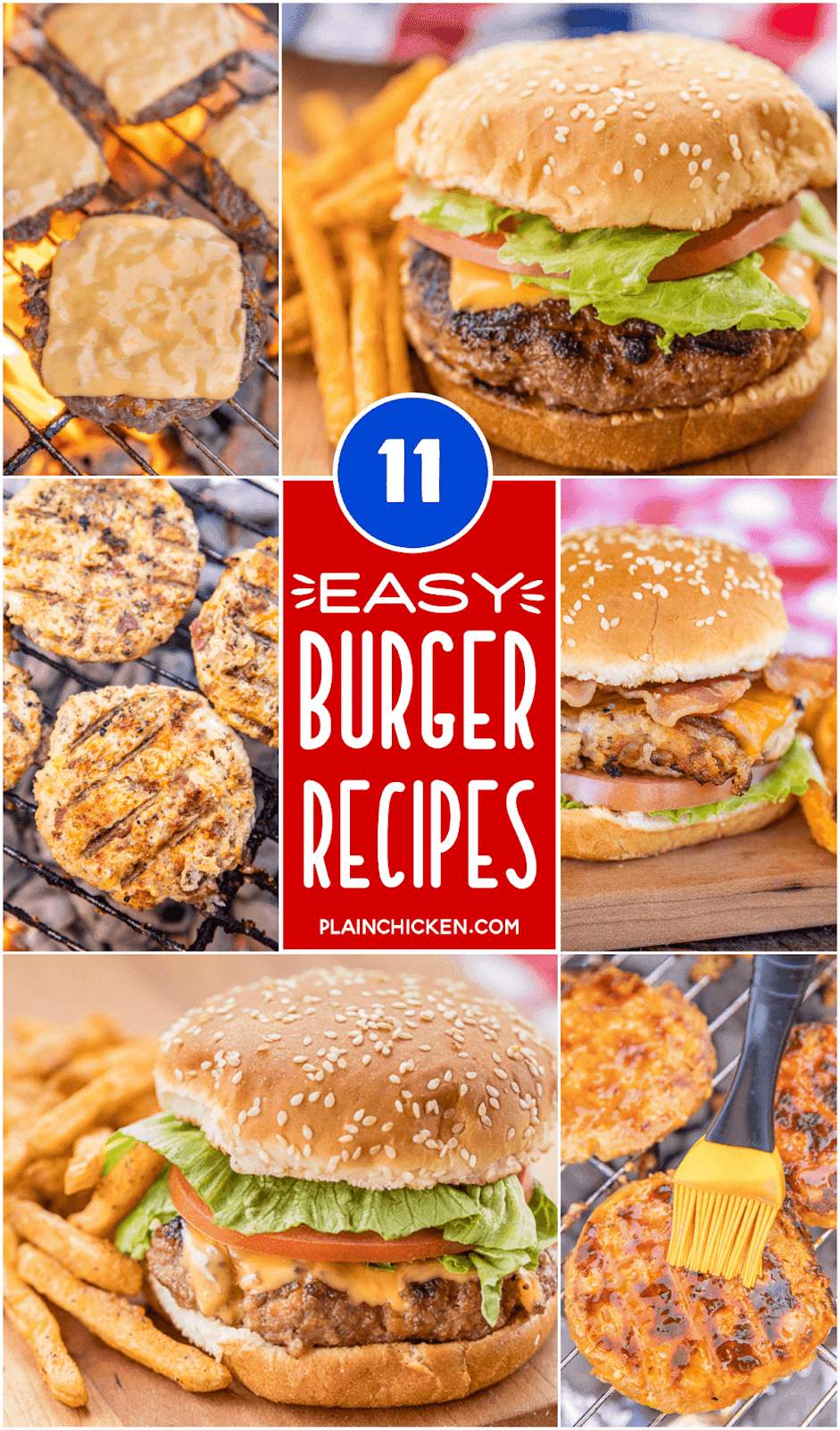 Easy Burger Recipes 11 Easy Hamburger Recipes For Summer Ground Beef And Chicken Burgers These Are T Easy Burgers Best Hamburger Recipes Easy Burger Recipe